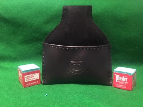 O'min leather chalk pouch for Snooker / Pool / Billiards chalk