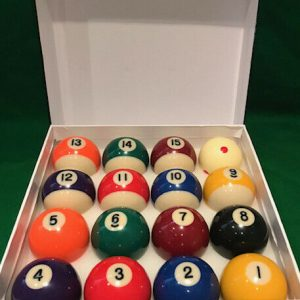 2 Inch Spots & Stripes Pool Balls with a Spotted White Ball