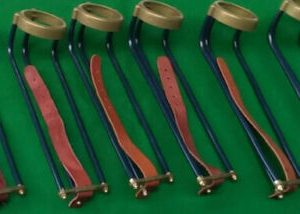 Snooker Table Luxury Set of 6 ABS Gold Pocket Rails & Ring Nets