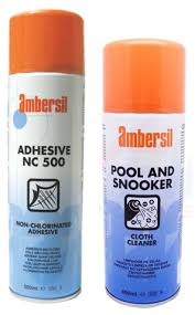 Ambersil NC 500 Adhesive with Cloth Cleaner Bundle