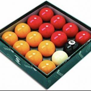 Aramith Premier 2″ Reds & Yellows with Plain White Ball