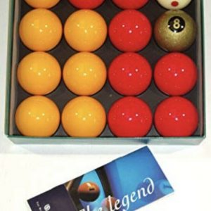 Aramith Premier 2″ Reds & Yellows with Gold 8 Ball & Pro Cup Addition White Ball