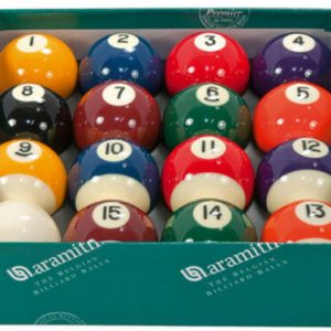 Aramith Premier 2″ Spots & Stripes with Plain White Ball