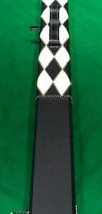 Camelot ¾ Snooker/Pool Cue Case. White Diamond