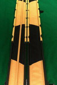 Camelot ¾ Snooker/Pool Cue Case. Yellow Diamond