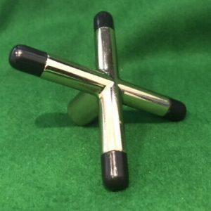 Camelot Brass Cross Rest Head & Black Feet