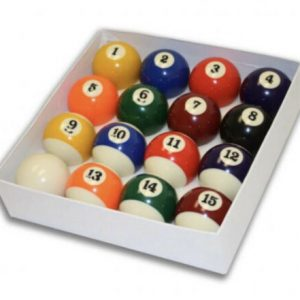 Camelot 2 Inch Spots & Stripes Pool Balls with a Plain White Ball