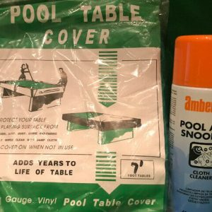 7ft Pool Table Cover & Cloth Cleaner