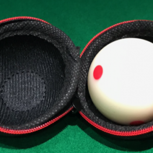 Camelot Spotted Pool White Ball with Pool Ball Carry Case
