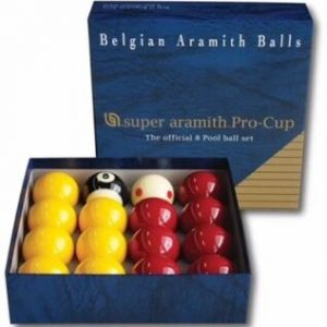 Super Aramith Pro Cup 2″ Reds Yellows