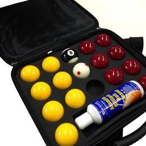 Super Aramith 2 Inch Pro Cup Pool & Nylon Ball Case